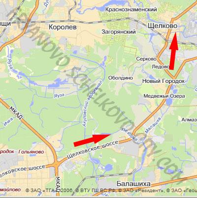 добраться до Фряново из Москвы до Щелково